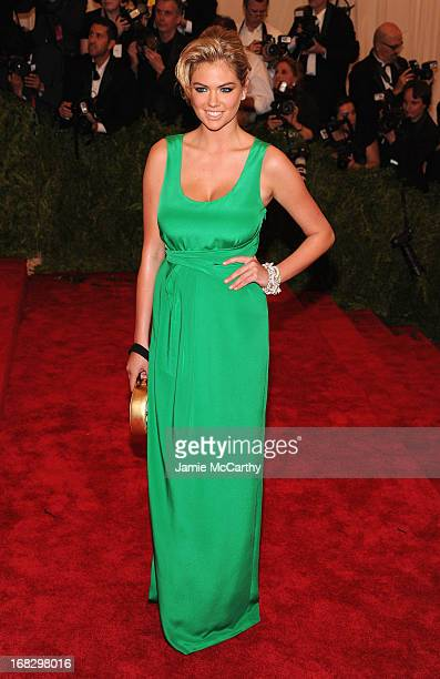 Model Kate Upton attends the Costume Institute Gala for the 'PUNK Chaos to Couture' exhibition at the Metropolitan Museum of Art on May 6 2013 in New...