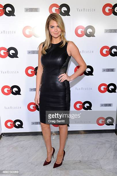Model Kate Upton attends the GQ Super Bowl Party 2014 sponsored by Patron Tequila Van Heusen and Miller Fortune on January 31 2014 in New York City