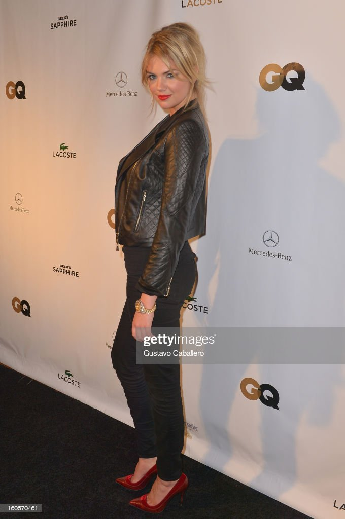Model Kate Upton attends the GQ Super Bowl party sponsored by Lacoste and Mercedes-Benzat The Elms Mansion on February 2, 2013 in New Orleans, Louisiana.