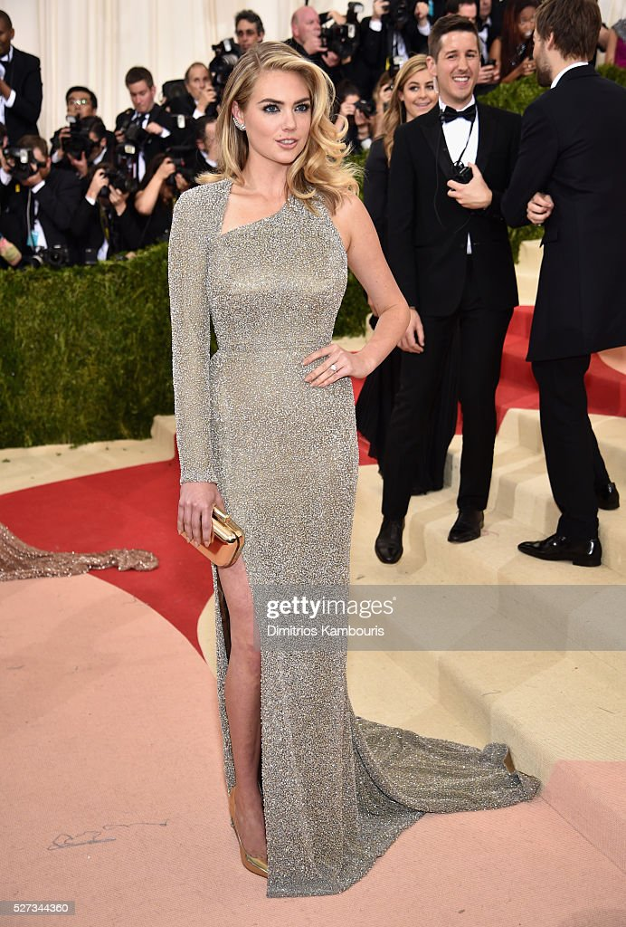 Model Kate Upton attends the 'Manus x Machina: Fashion In An Age Of Technology' Costume Institute Gala at Metropolitan Museum of Art on May 2, 2016 in New York City.