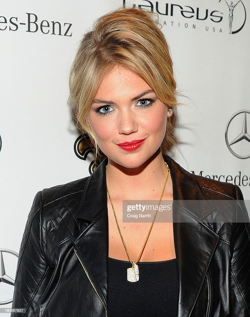 Model <a gi-track='captionPersonalityLinkClicked' href=/galleries/search?phrase=Kate+Upton&family=editorial&specificpeople=7488546 ng-click='$event.stopPropagation()'>Kate Upton</a> attends the Mercedes-Benz Laureus Event at The Wedding Cake House on February 2, 2013 in New Orleans, Louisiana.