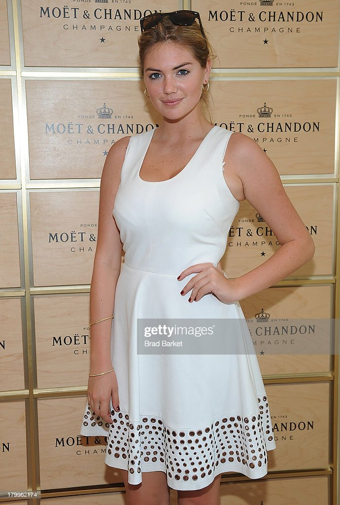 Model <a gi-track='captionPersonalityLinkClicked' href=/galleries/search?phrase=Kate+Upton&family=editorial&specificpeople=7488546 ng-click='$event.stopPropagation()'>Kate Upton</a> attends The Moet & Chandon Suite at USTA Billie Jean King National Tennis Center on September 7, 2013 in New York City.