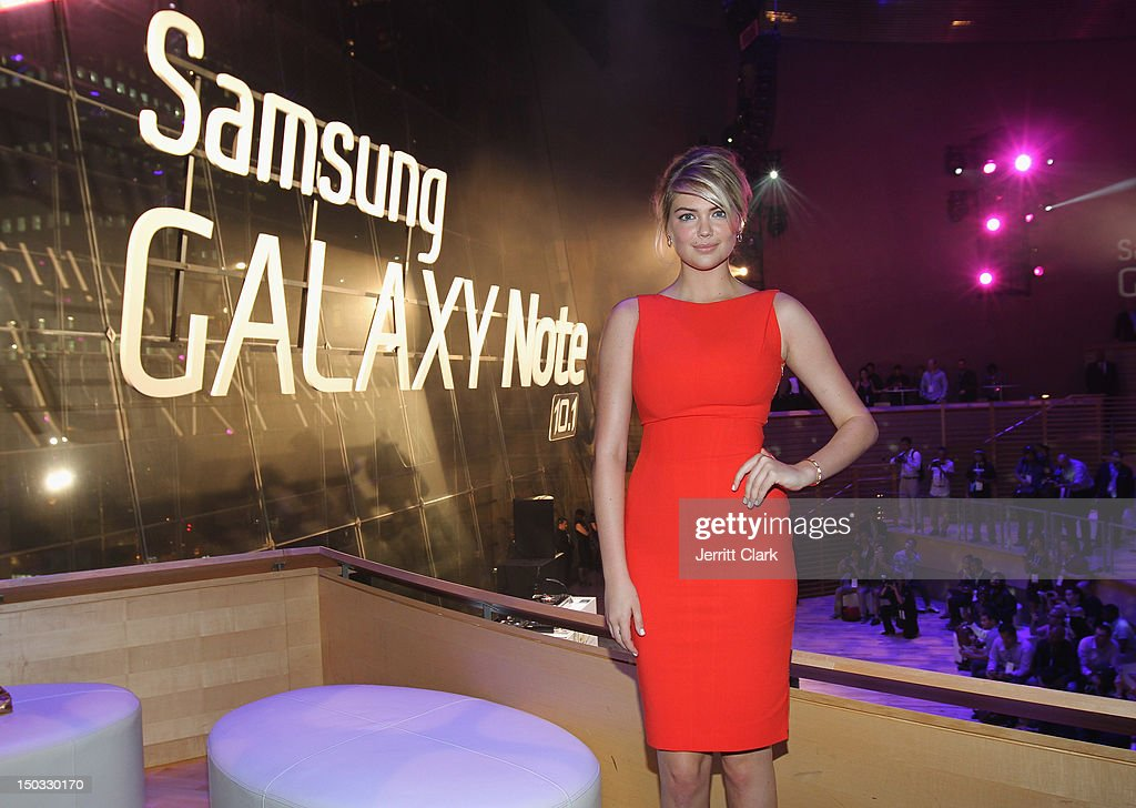 Model <a gi-track='captionPersonalityLinkClicked' href=/galleries/search?phrase=Kate+Upton&family=editorial&specificpeople=7488546 ng-click='$event.stopPropagation()'>Kate Upton</a> attends the Samsung Galaxy Note 10.1 launch party at Frederick P. Rose Hall, Jazz at Lincoln Center on August 15, 2012 in New York City.