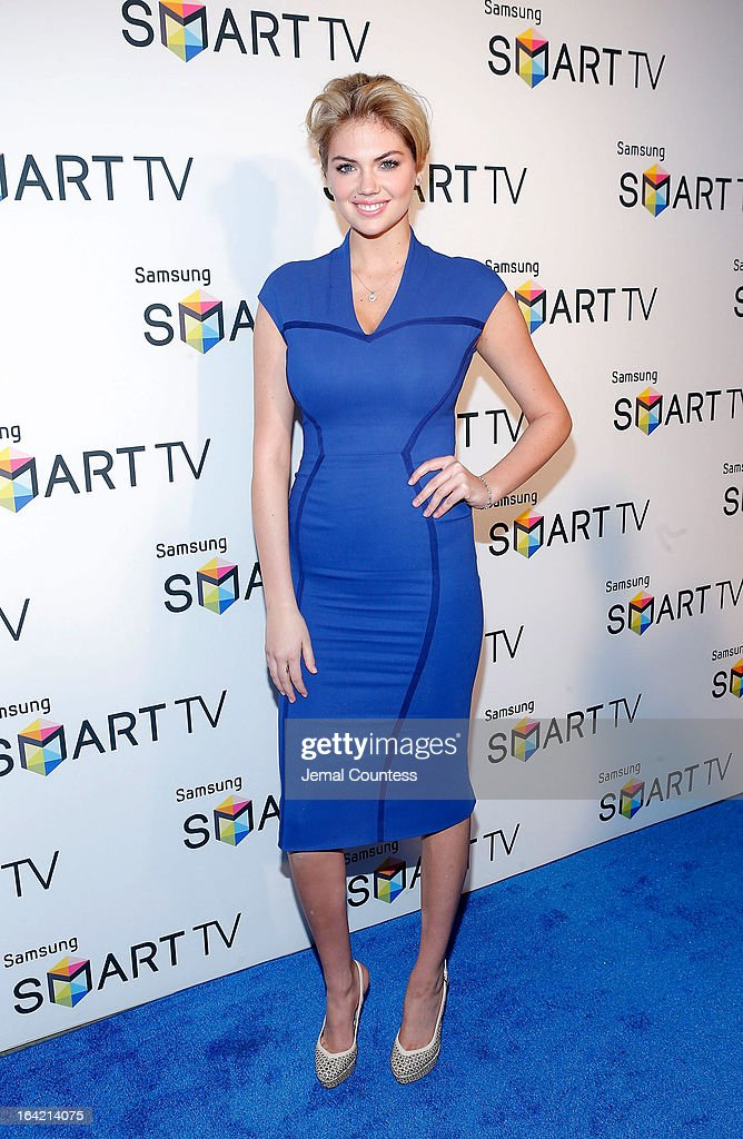 Model Kate Upton attends The Samsung Spring 2013 Launch at Museum Of American Finance on March 20, 2013 in New York City.