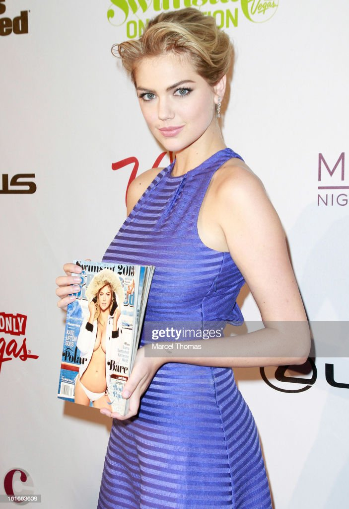 Model <a gi-track='captionPersonalityLinkClicked' href=/galleries/search?phrase=Kate+Upton&family=editorial&specificpeople=7488546 ng-click='$event.stopPropagation()'>Kate Upton</a> attends the 'Sports Illustrated Swimsuit on Location' event at the Marquee Nightclub at The Cosmopolitan of Las Vegas on February 13, 2013 in Las Vegas, Nevada.