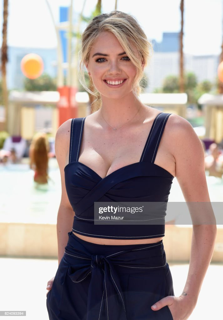 Model Kate Upton makes a splash at JBL Poolside, one of the many events a part of JBL Fest, an exclusive, three-day music experience hosted by JBL at the Hard Rock Hotel & Casino on July 28, 2017 in Las Vegas, Nevada.