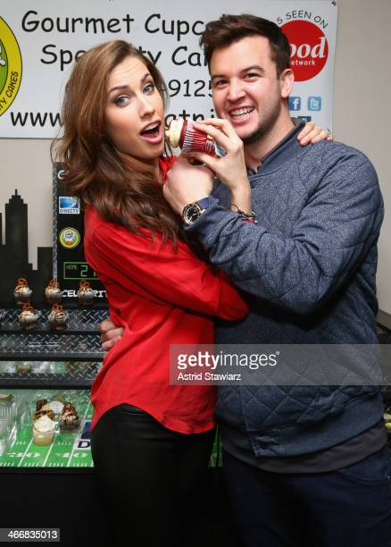 Model Katherine Webb and football player AJ McCarron attend DirecTV Beach Bowl 2014 at the Gansevoort Hotel on January 30 2014 in New York City