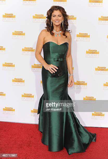 Model Kathy Ireland arrives at NBC And Time Inc Celebrate 50th Anniversary Of Sports Illustrated Swimsuit Issue at Dolby Theatre on January 14 2014...