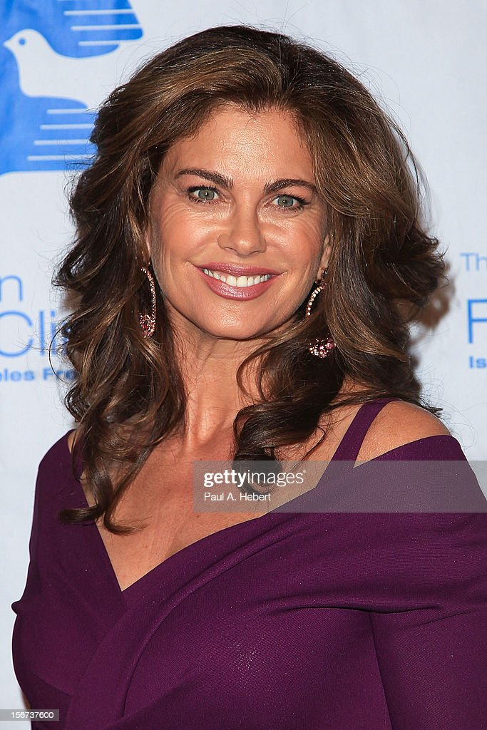Model Kathy Ireland arrives at The Saban Free Clinic's Gala Honoring ABC Entertainment Group President Paul Lee and Bob Broder at The Beverly Hilton Hotel on November 19, 2012 in Beverly Hills, California.