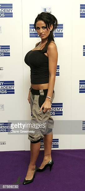 Model Katie Price poses in the awards room at the Sony Radio Academy Awards 2006 at Grosvenor House Hotel on May 8 2006 in London England