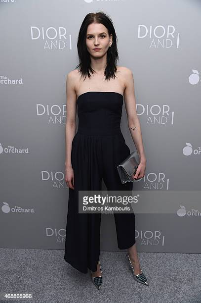 Model Katlin Aas attends the Dior And I NY Premiere on April 7 2015 in New York City