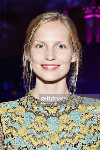 Model Katrin Thormann attends Elton John AIDS Foundation's 14th Annual An Enduring Vision Benefit at Cipriani Wall Street on November 2 2015 in New...