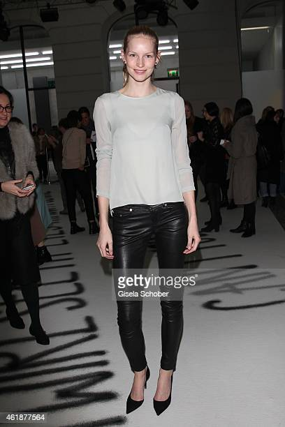 Model Katrin Thormann attends the Capara fashion show during the MercedesBenz Fashion Week Berlin Autumn/Winter 2015/16 at Palazzo Italia on January...