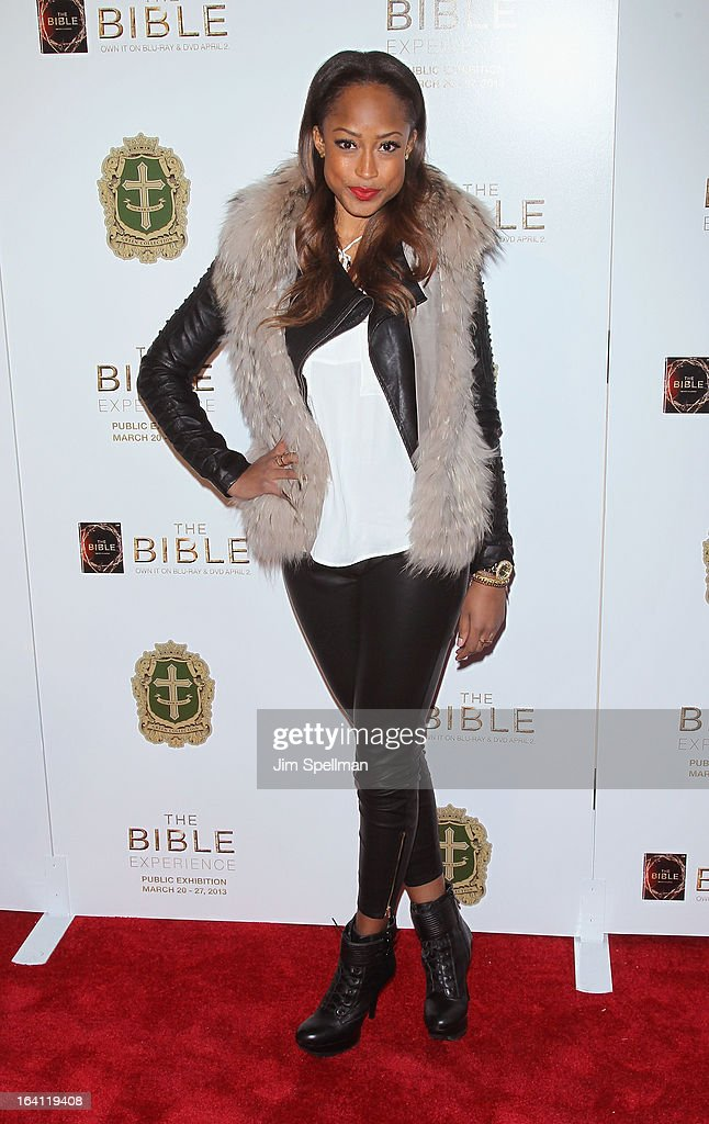 Model <a gi-track='captionPersonalityLinkClicked' href=/galleries/search?phrase=Keenyah+Hill&family=editorial&specificpeople=603915 ng-click='$event.stopPropagation()'>Keenyah Hill</a> attends 'The Bible Experience' Opening Night Gala at The Bible Experience on March 19, 2013 in New York City.