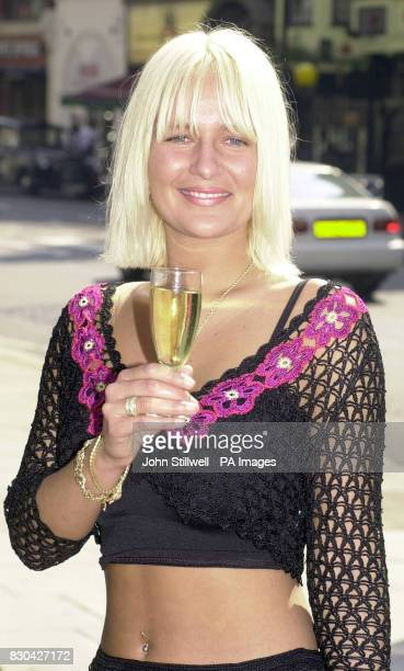 Model Kelly Antonucci celebrates her libel victory against IPC magazines with vintage champagne outside the High Court in London She accepted 7500...