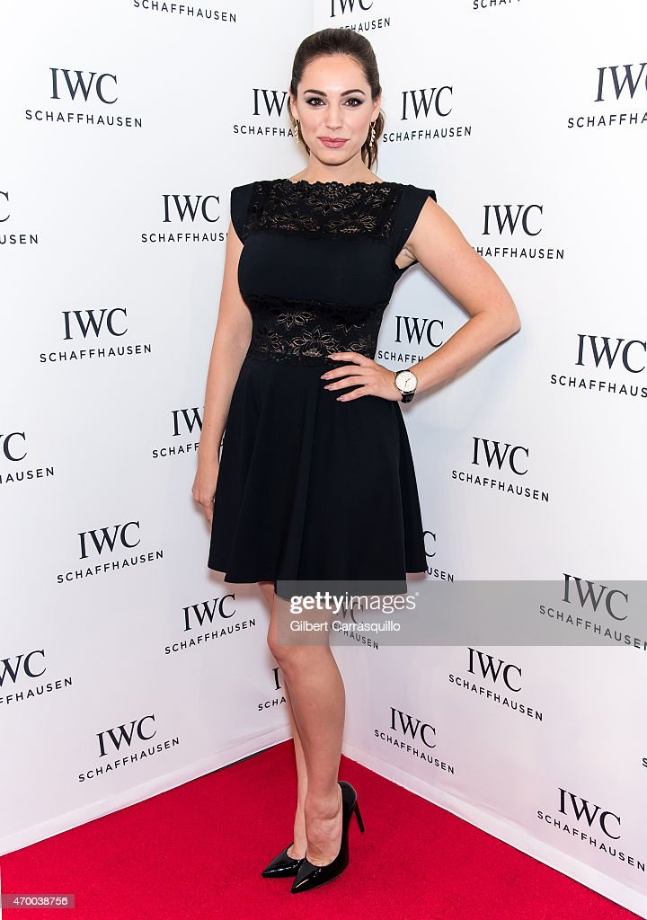 Model Kelly Brook attends the IWC Schaffhausen third annual 'For the Love of Cinema' dinner during Tribeca Film Festival at Spring Studios on April 16, 2015 in New York City.