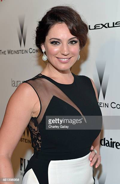 Model Kelly Brook attends The Weinstein Company Netflix's 2015 Golden Globes After Party presented by FIJI Water Lexus Laura Mercier and Marie Claire...