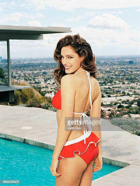 Model Kelly Brook is photographed in 2006 in Los Angeles California