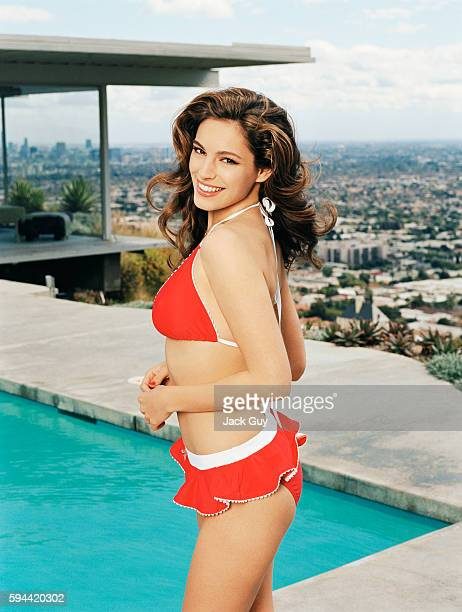 Model Kelly Brook is photographed in 2006 in Los Angeles, California.