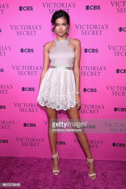 Model Kelly Gale attends as Victoria's Secret Angels gather for an intimate viewing party of the 2017 Victoria's Secret Fashion Show at Spring...
