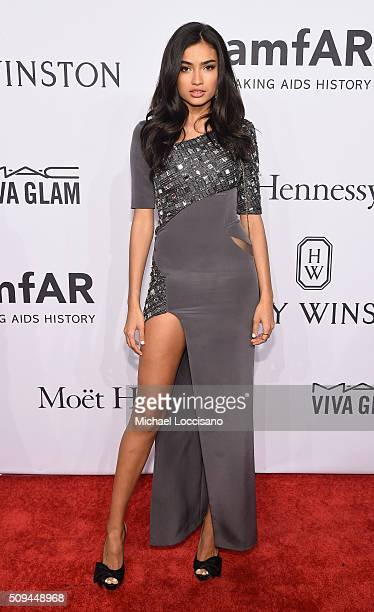Model Kelly Gale attends the 2016 amfAR New York Gala at Cipriani Wall Street on February 10 2016 in New York City