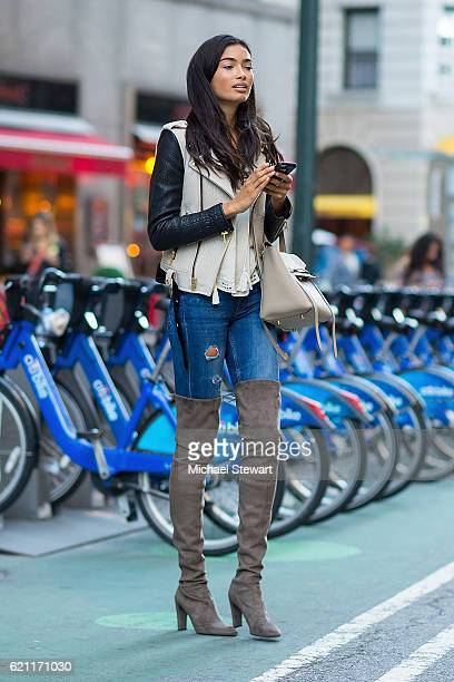 Model Kelly Gale attends the 2016 Victoria's Secret Fashion Show model fittings on November 4 2016 in New York City