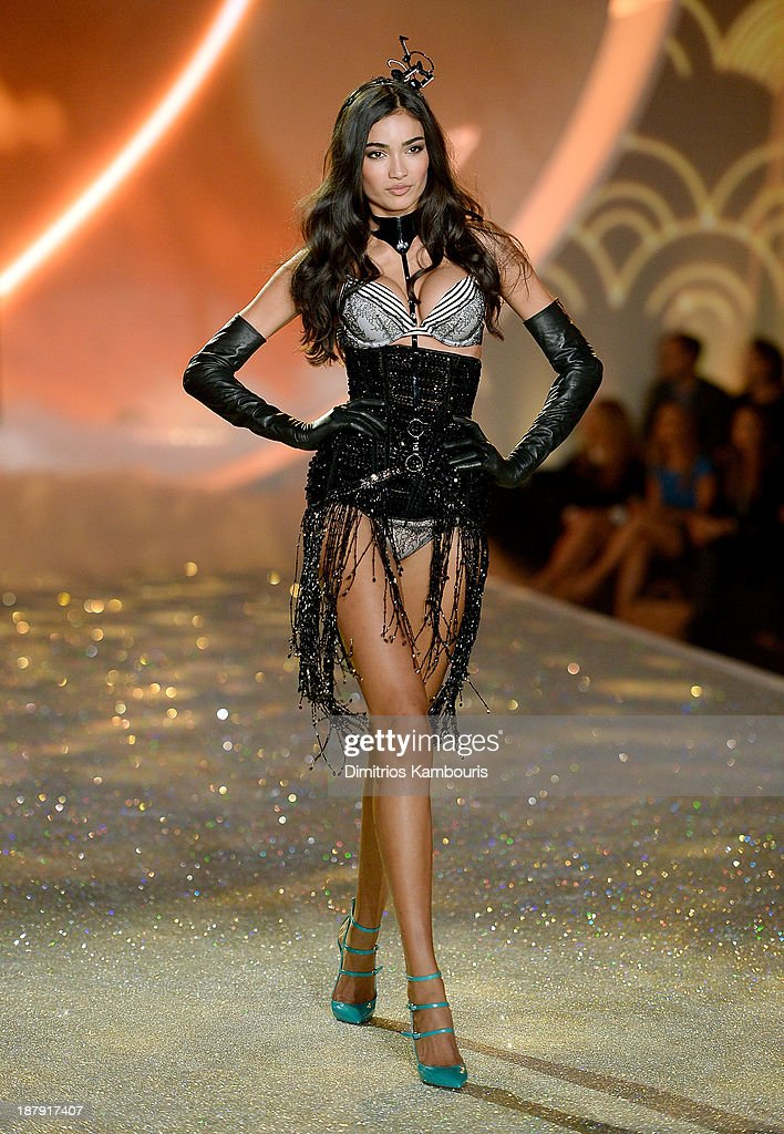 Model Kelly Gale walks the runway at the 2013 Victoria's Secret Fashion Show at Lexington Avenue Armory on November 13, 2013 in New York City.