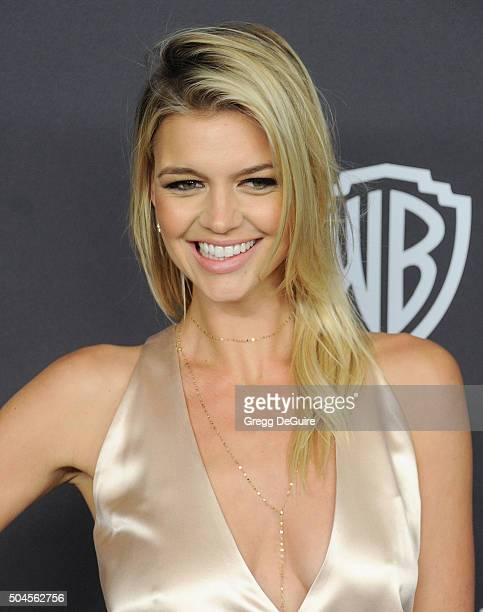 Model Kelly Rohrbach arrives at the 2016 InStyle And Warner Bros 73rd Annual Golden Globe Awards PostParty at The Beverly Hilton Hotel on January 10...