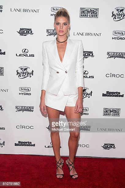Model Kelly Rohrbach attends the 2016 Sports Illustrated Swimsuit Launch Celebration at Brookfield Place on February 16 2016 in New York City