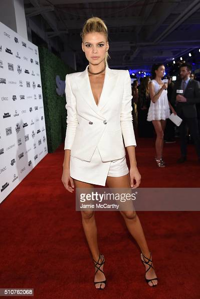Model Kelly Rohrbach attends the Sports Illustrated Swimsuit 2016 NYC VIP press event on February 16 2016 in New York City
