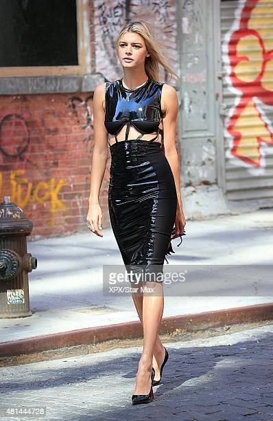 Model Kelly Rohrbach is seen on July 10 2015 in New York City