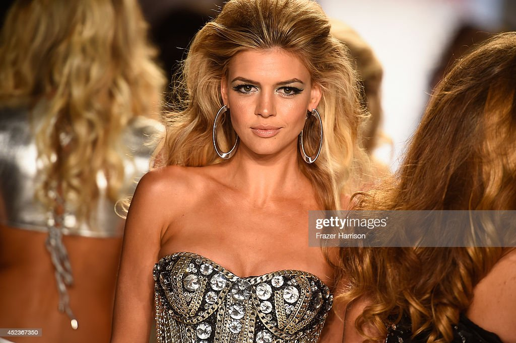 Model Kelly Rohrbach walks the runway with TRESemme at the Beach Bunny Featuring The Blonds show during MercedesBenz Fashion Week Swim 2015 at Cabana...