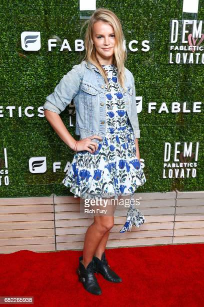 Model Kelly Sawyer attends the launch of Fabletics Capsule Collection at the Beverly Hills Hotel on May 10 2017 in Los Angeles California