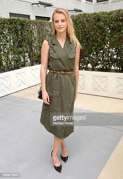 Model Kelly Sawyer attends Who What Wear's launch of their book 'The Career Code' at the Beverly Wilshire Hotel on May 11 2016 in Los Angeles...