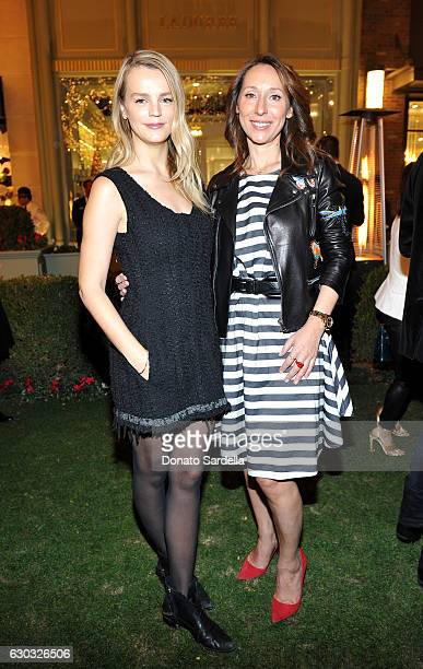 Model Kelly SawyerPatricof and Ladurée copresident Elisabeth Holder Raberin attend the opening of Laduree at The Grove in Los Angeles hosted by Rick...