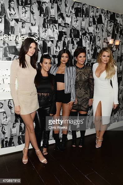 Model Kendall Jenner and tv personalities Kourtney Kardashian Kylie Jenner Kris Jenner and Khloe Kardashian attend Opening Ceremony and Calvin Klein...