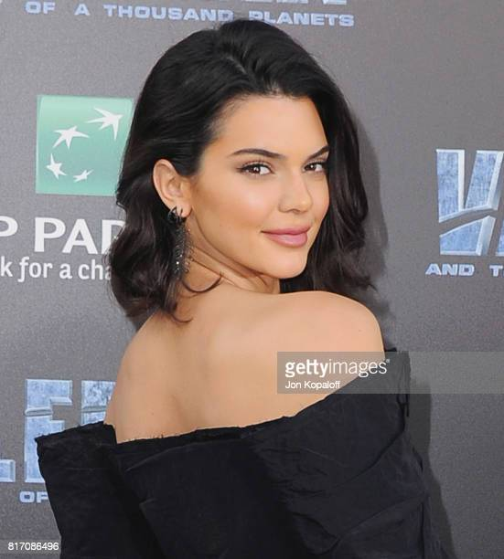 Model Kendall Jenner arrives at the Los Angeles Premiere 'Valerian And The City Of A Thousand Planets' at TCL Chinese Theatre on July 17 2017 in...