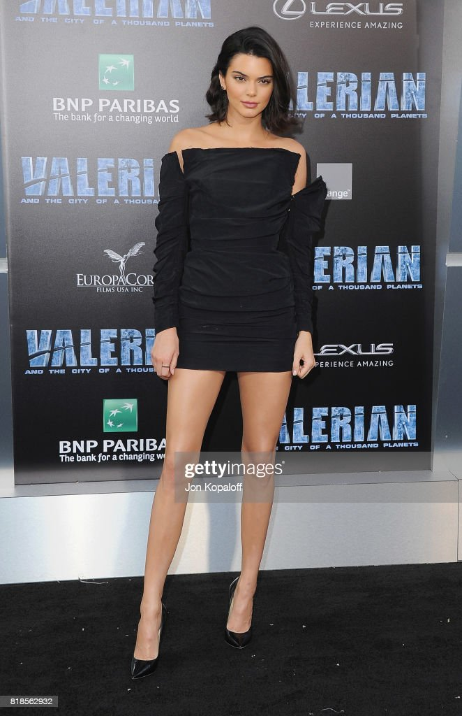 Model Kendall Jenner arrives at the Los Angeles Premiere 'Valerian And The City Of A Thousand Planets' at TCL Chinese Theatre on July 17, 2017 in Hollywood, California.