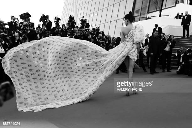 US model Kendall Jenner arrives on May 20 2017 for the screening of the film '120 Beats Per Minute ' at the 70th edition of the Cannes Film Festival...