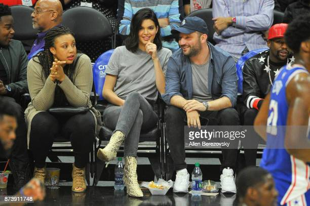 Model Kendall Jenner attend a basketball game between the Los Angeles Clippers and the Philadelphia 76ers at Staples Center on November 13 2017 in...