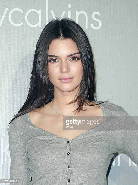 Model Kendall Jenner attends Calvin Klein Jeans Music Event at Kai Tak Cruise Terminal on June 11 2015 in Hong Kong Hong Kong