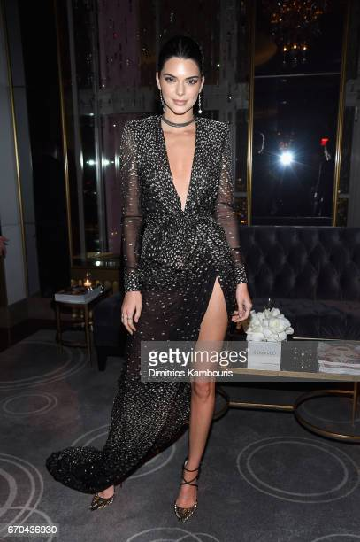Model Kendall Jenner attends Harper's BAZAAR 150th Anniversary Event presented with Tiffany Co at The Rainbow Room on April 19 2017 in New York City