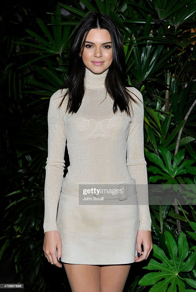 Model Kendall Jenner attends Opening Ceremony and Calvin Klein Jeans' celebration launch of the #mycalvins Denim Series with special guest Kendall Jenner at Chateau Marmont on April 23, 2015 in Los Angeles, California.