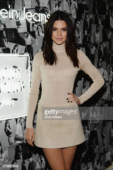 Model Kendall Jenner attends Opening Ceremony and Calvin Klein Jeans' celebration launch of the #mycalvins Denim Series with special guest Kendall...
