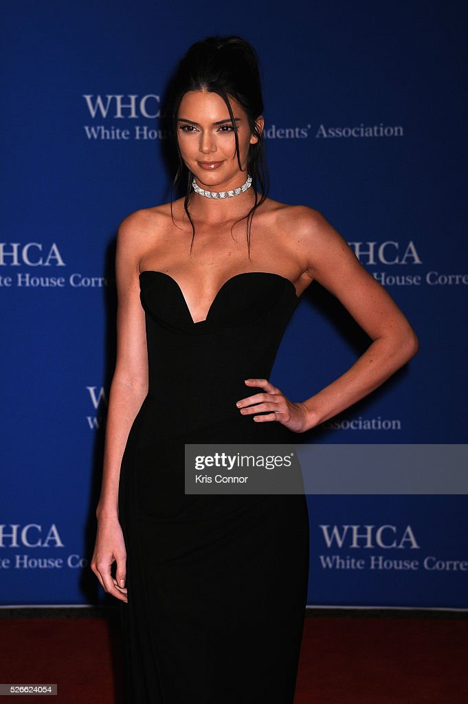 Model <a gi-track='captionPersonalityLinkClicked' href=/galleries/search?phrase=Kendall+Jenner&family=editorial&specificpeople=2786662 ng-click='$event.stopPropagation()'>Kendall Jenner</a> attends the 102nd White House Correspondents' Association Dinner on April 30, 2016 in Washington, DC.