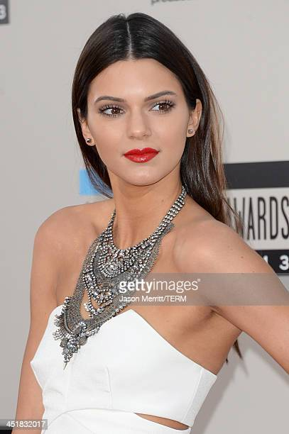 Model Kendall Jenner attends the 2013 American Music Awards at Nokia Theatre LA Live on November 24 2013 in Los Angeles California
