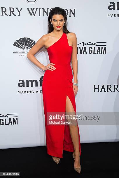 Model Kendall Jenner attends the 2015 amfAR New York Gala at Cipriani Wall Street on February 11 2015 in New York City