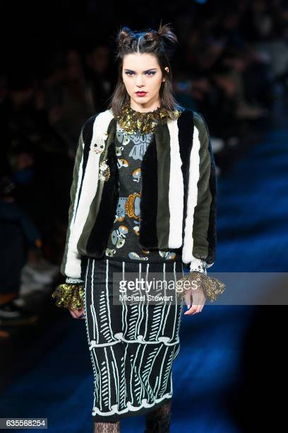 Model Kendall Jenner attends the Anna Sui fashion show during February 2017 New York Fashion Week The Shows at Gallery 1 Skylight Clarkson Sq on...