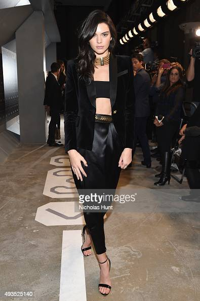 Model Kendall Jenner attends the BALMAIN X HM Collection Launch at 23 Wall Street on October 20 2015 in New York City