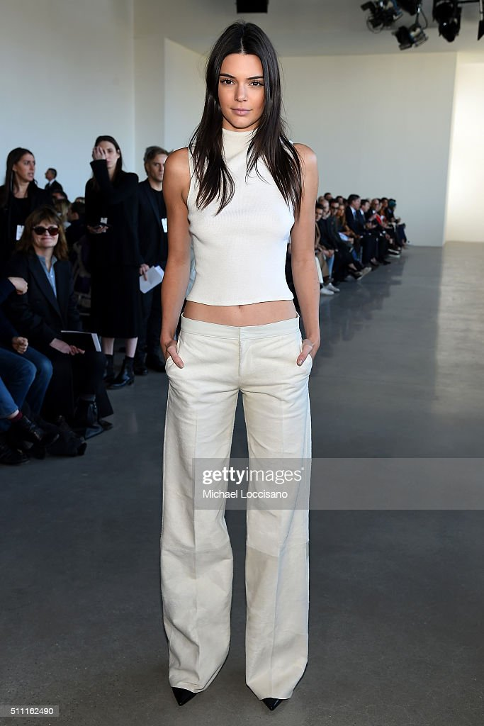 Model, Kendall Jenner, attends the Calvin Klein Collection Fall 2016 fashion show during New York Fashion Week at Spring Studios on February 18, 2016 in New York City.